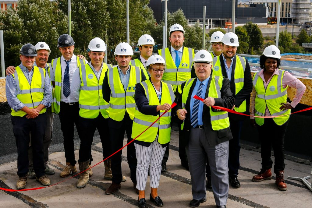 Riverside Park development topping out ceremony